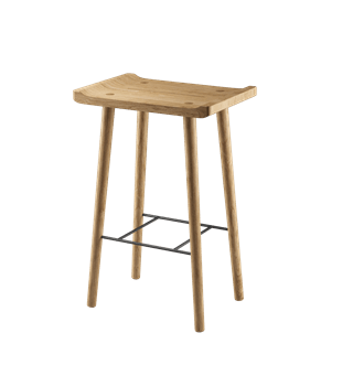 Scala Bar Stool (Oiled)