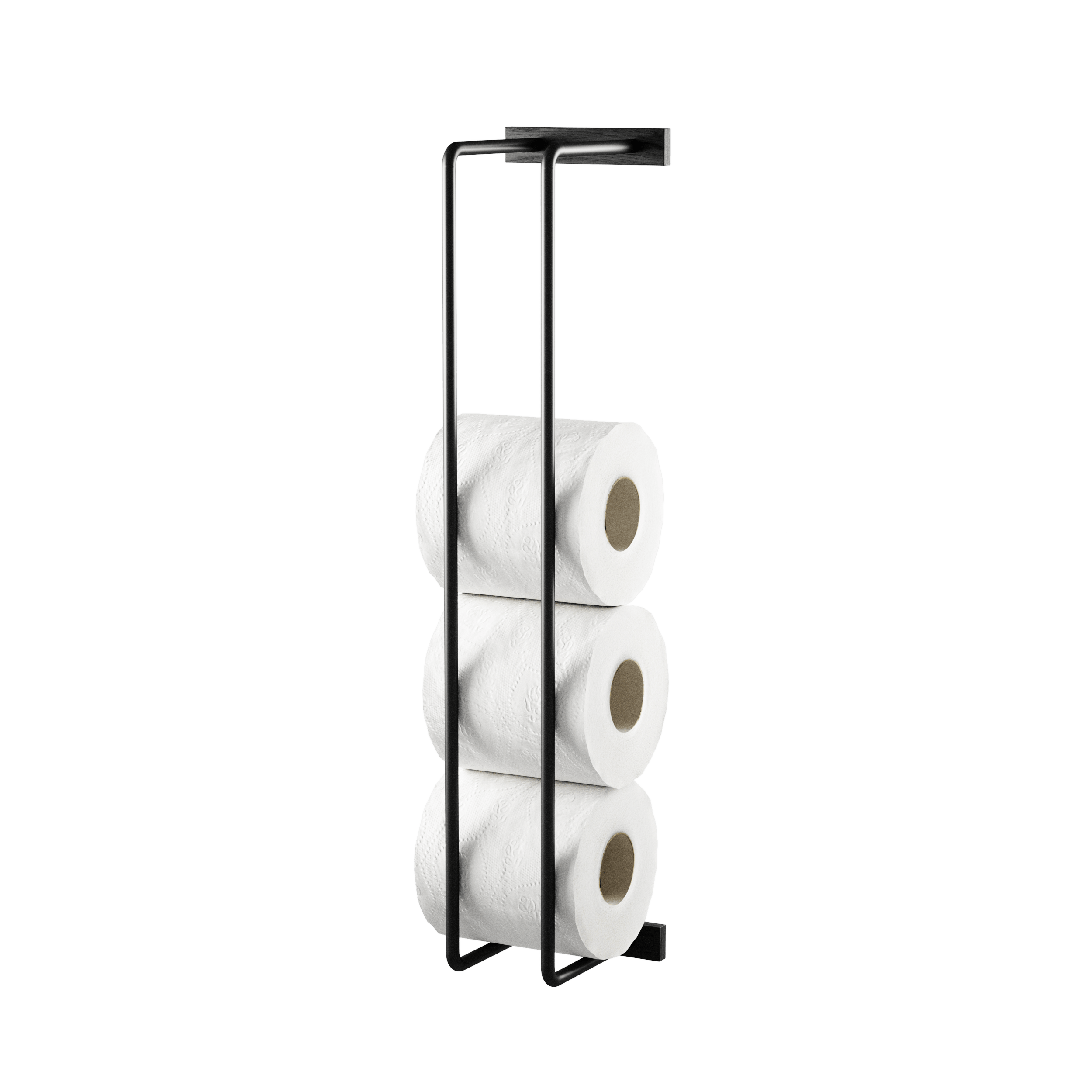 Bathroom Rack Black toilet paper